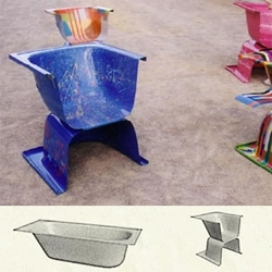 turn your tub into a chair!  this picture does NOT do justice to the site, so click it!