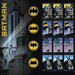 USPS debuts Batman Stamps!