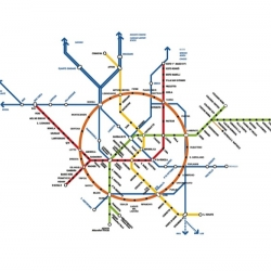 Visionnaire Italian architects Baukuh designed a new circular metro line for Milan.