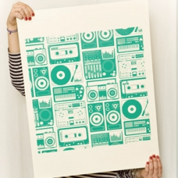 Aimee Wilder added limited edition screen prints to her collection, just in time for the holidays. Now those of us who aren't ready to wallpaper can frame a print instead. She also has pillows with NEON piping. That is soooo cool!