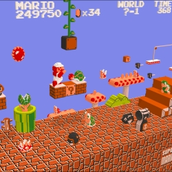 Created in a span of 8 months, this die-hard nintendo fan gave a the 2D world of Super Mario Bros a new perspective. Look at the incredible detail.