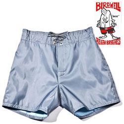 Iconic Birdwell Beach Britches have been made in Santa Ana, CA since 1961 ~ boardshort like swimsuits ~ beautiful in Federal Blue over at Saturdays NYC