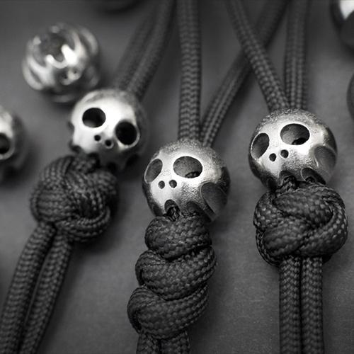 SKALL - Titanium Lanyard Skull Beads from Ferg