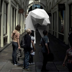 Bears, an installation of a beautiful acrylic polar bear in Covent Garden by PostlerFerguson last October.