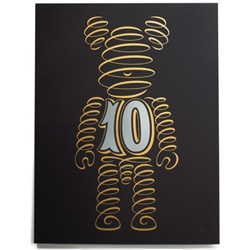 House Industries BE@RBRICK Anniversary Prints (also available in white!)