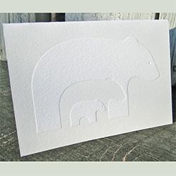 Tara Hogan's INK+WIT Blissful Bears Letterpress Notecards