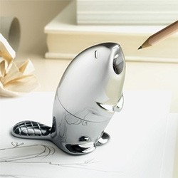 Kastor - Adorable new beaver pencil sharpener/paper weight by Rodrigo Torres for Alessi