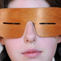 Slanties. Ancient Inuit snow glasses return as iconic fashion accessory.
