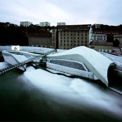Incredible hydroelectric power station, in Kempten, Germany by Becker Architekten.