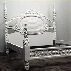 Amazing custom built corian bed frames by MachineHistories out of LA.