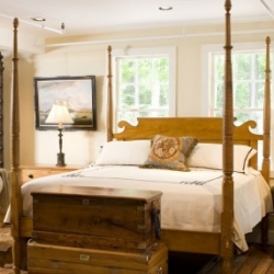 This 19th century bed was purchased by Michael Smith for the White House and is was specially sized to a king ~ could it be the new president's bed?  I think so!