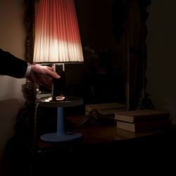 Bedside Lamp by Matteo Cibic. The light turns red when the dildo is retrieved from it.