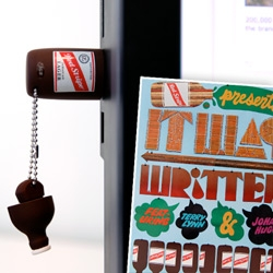 Red Stripe and Fader magazine team up for some exclusive Jamaican Tracks ~ and they are downloadable, but also showed up in the cutest Red Stripe USB Key ~ beer for my computers! See the awesome graphics as well!
