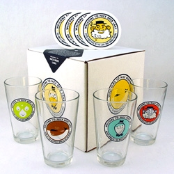 Welcome to Nice Beer Lake! Adorable pint glass and coaster set by Aesthetic Apparatus!