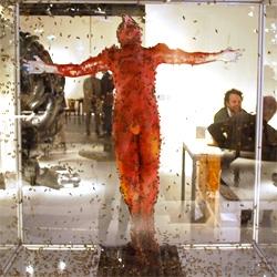Amazing 'Unbearable Lightness' by dutch designer Tomáš Gabzdil of studio Libertiny. Worker bees complete the sculpture.