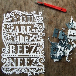 "Glorious handmade paper cuts from the lovely Julene ""Jollyness"" Harrison. Available for commissions!"