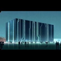 cool digital building in beijing