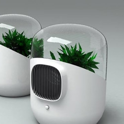 Bel-Air is a plant based air filtering system designed by Mathieu Lehanneur. Great design, even if I'm sure the plants would do just as well without the little glass bubble.