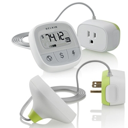 'Conserve Insight' energy use monitor by Belkin. Find out how much energy your devices really use including, the cost of operation and the amount of carbon dioxide (CO₂) produced.