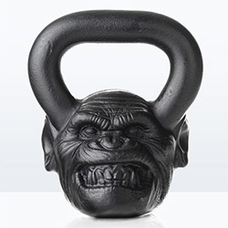 Introducing the Onnit Primal Bell Chimp kettle bell.
