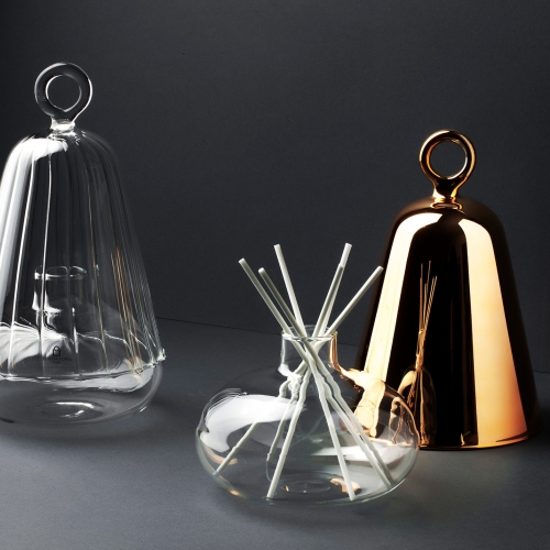 Ichendorf Bell Collection designed by Sottovoce's Giorgio Bonaguro and Viviana Maggiolini. An elegant fragrance dispenser inspired by The Little Prince.