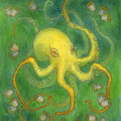 What could be better than an octopus with bells? By Ewelina Kara.