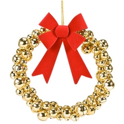 While giving us a peek at Christmas In July ~ NYT's The Moment shares a peek at Marcel Wanders for Target coming this holiday season... a wreath made of gold jingle bells