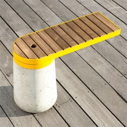 Beautiful modular Cantilevered bench by StokkeAustad
