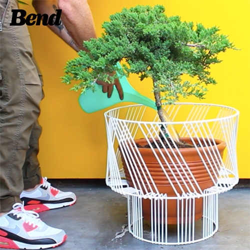 Bend Goods Plant Stand.  This indoor/outdoor plant stand is galvanized and powder coated