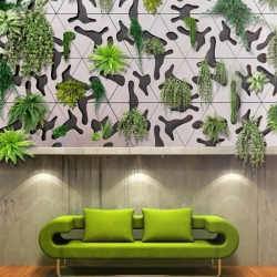 The verdant marriage of design and horticulture is seen in French designer Benjamin Pawlica's Deltaflore plantable concrete green wall tiles.