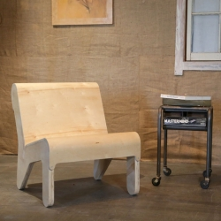 DIY Bent Plywood Chair based on the Barcelona Pavilion Chair by designer Jonathan Odom. See how to make your own.