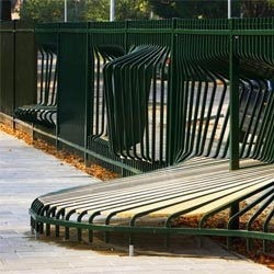 Dutch designer Tejo Remy's presentation 'Playground Fences' allow for a more active interaction between those on either sides of the fence, providing seats, benches, nooks and playspaces for children.