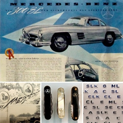 I love the vintage branding and visual language of Mercedes-Benz ~ one of the most fascinating aspects of the museum. From posters of early models to advertisements to mother of pearl pocket knives...