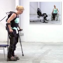 Berkeley Bionics 'eLegs' exoskeleton. Amazing technology with a focus on paraplegics' rehabilitation.