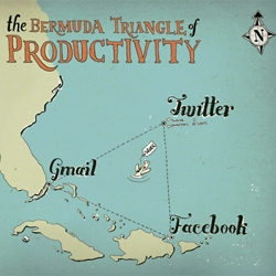 The Bermuda Triangle of Productivity - where all your time disappears. By Fuschia Macaree.