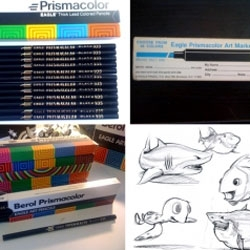 Vintage packaging galore!  A free form group of Bay Area designers scour off some old sketching tools like Berol Prismacolor to bring new art to life.