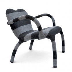 Dutch designer Bertjan Pot's Jumper chair, launched by British brand Established & Sons in Milan last week.
