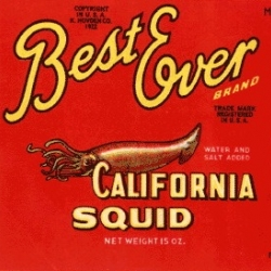 Incredibly large (and regularly updated) gallery of vintage sardine and squid packaging!