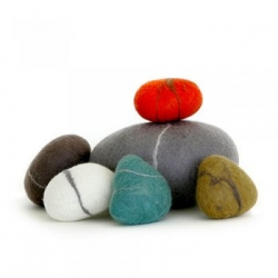 Quirky and funny...you should own a dozen.... Felt Pebbles - Handmade in Johannesburg, South Africa,