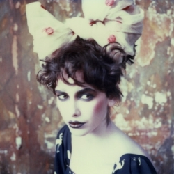 Fashion photographer Wendy Bevan shoots on good old Polaroid, and styles in shades of circus-burlesque. Makes you glad the instant film factory will be staying open after all.