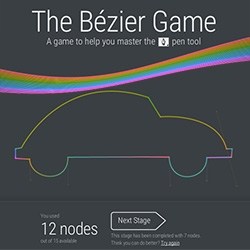 The Bézier Game - a game to help you master the pen tool. Amazing, maddening, addictive.