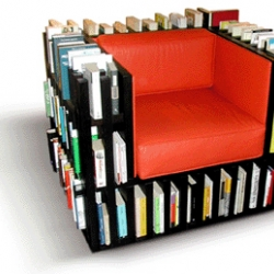 Never have to leave your seat to get some reading again? Bibliochaise by Nobody and Co.