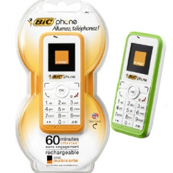 Bic phone | the cell phone of disposable Bic, in partnership with Orange.