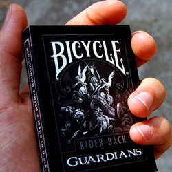 A deck of playing cards whose design stems from the foundation of Bicycle's classic Rider Backs, only rejuvenated in a more refined, intricate, industrial design.