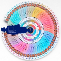 Will Thacker & Blake Waters of Leo Burnett teamed up with Pantone to create a limited edition colour guide book of the Queen's best colour matching outfits for the Royal Jubilee.