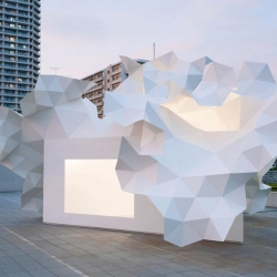 The Bloomberg Pavillion by Akihisa Hirata opened up at the Museum of Contemporary Art Tokyo!