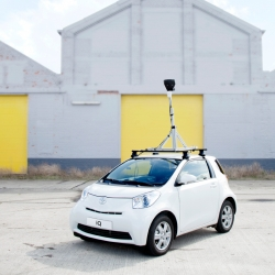 Toyota iQ completes Google Street View.