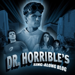 Dr. Horrible ~ a musical 3 part mini series, with part 1 up now... by Joss Whedon - with Neil Patrick Harris, Nathan Fillion, and Felicia Day ~ a result of the writer's strike, and all done cheaply and looks great!