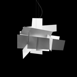 Interesting looking lamp called Big Bang made up irregular and apparently random sections of plastic planes. Designed by  Enrico Franzolini and Vicente García Jiménez for Foscarini.