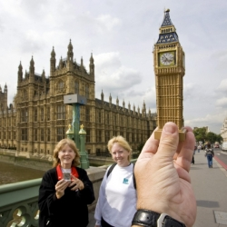 The amazing photographs that show the world's most famous landmarks replaced by cheap souvenirs.